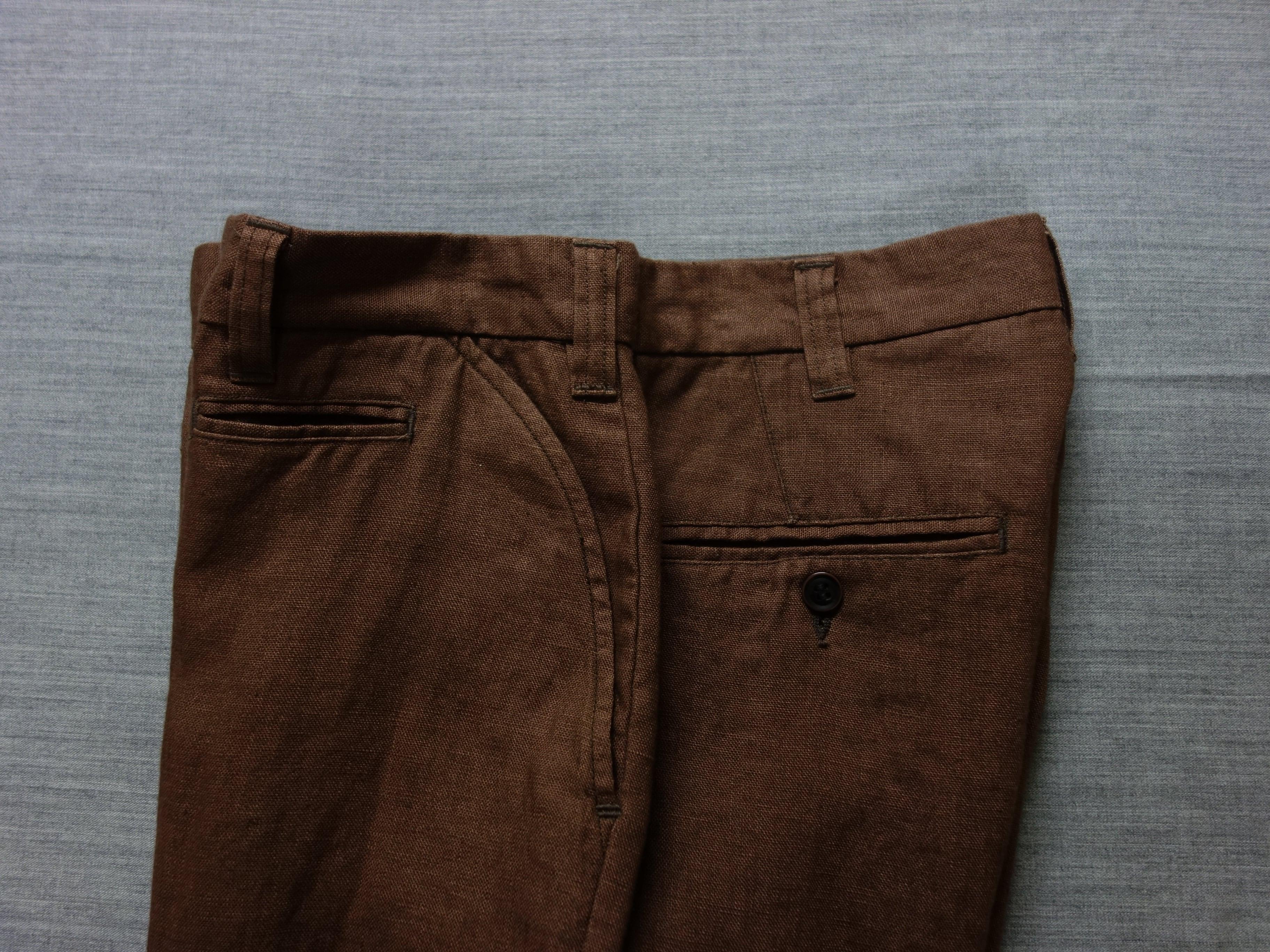 classic linen jodhpurs / brown