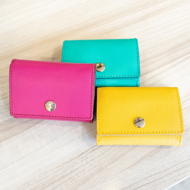 TOPKAPI(トプカピ)各シボ型押し・三つ折りミニ財布