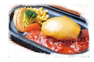 【ラルコーン】トマトチーズハンバーグ弁当