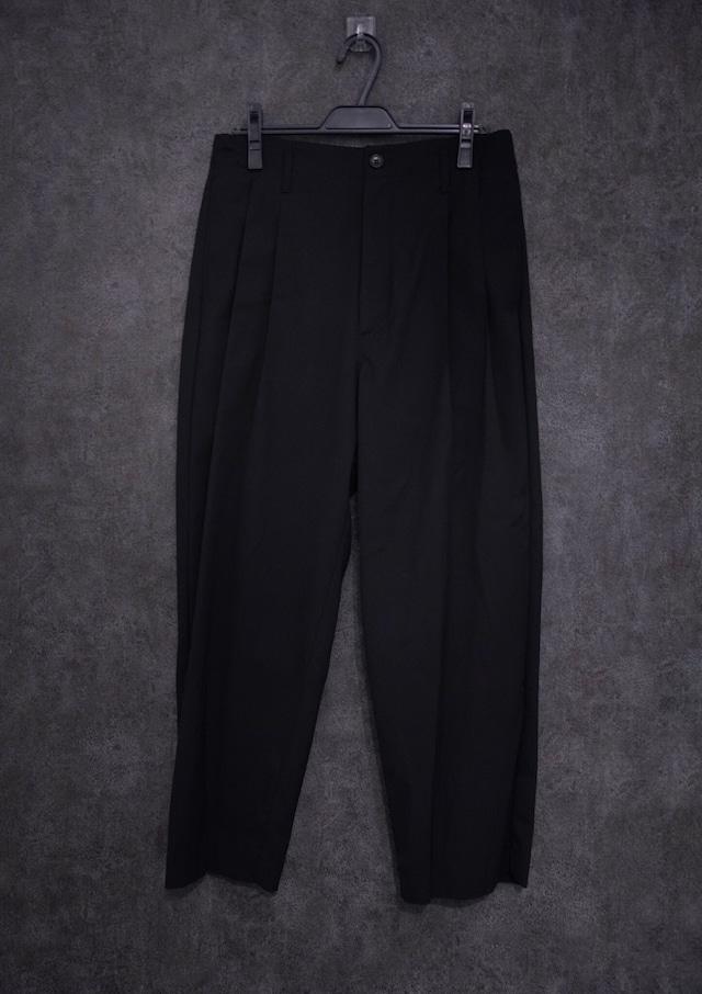 VOAAOV Clear Twill Wide Pants   Black