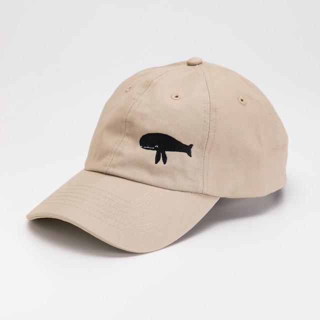 長沢明 刺繍キャップ クジラ