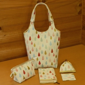 手づくりバッグ/しずく模様のバッグ (5-126)