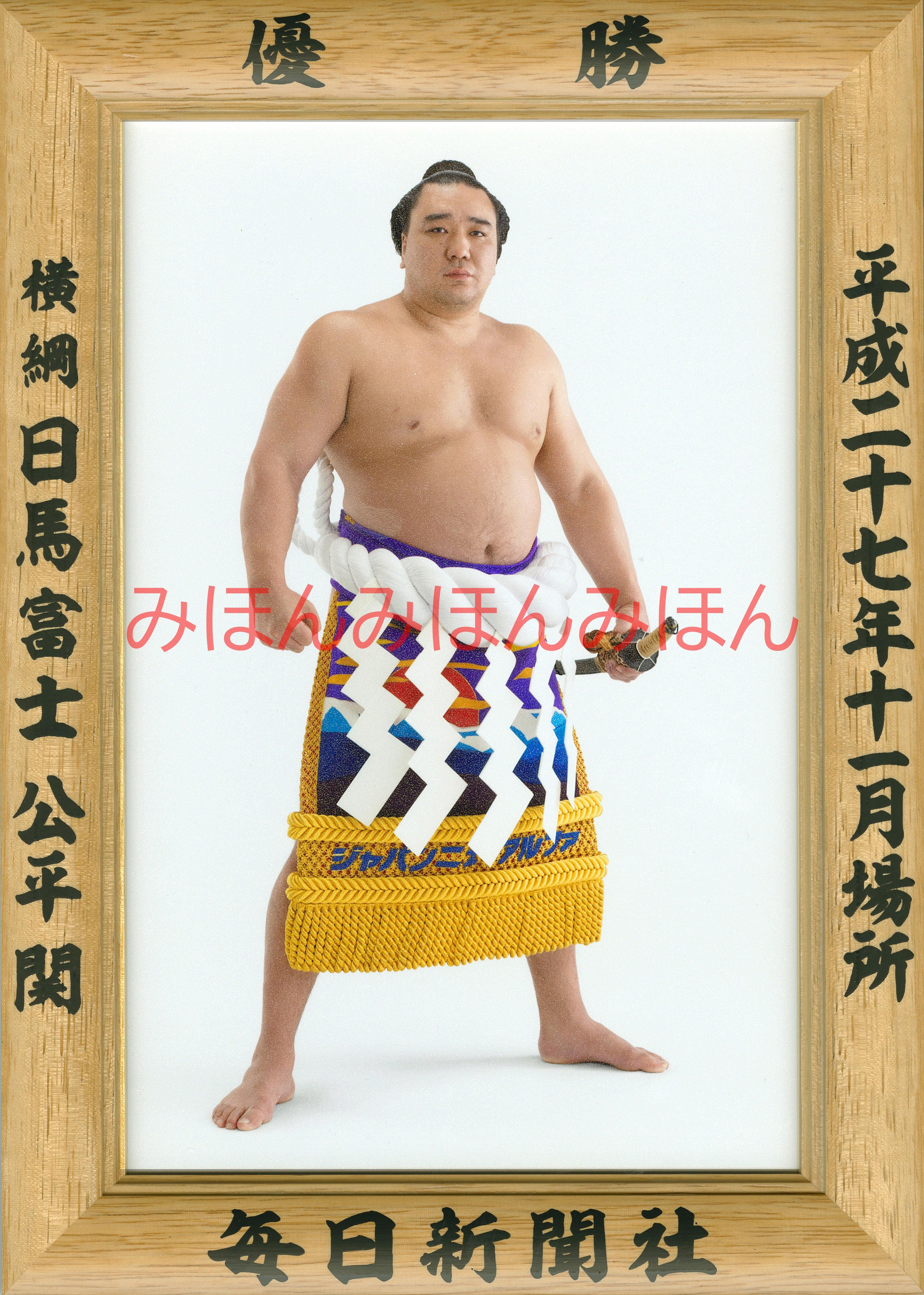平成27(2015)年11月場所優勝 横綱 日馬富士公平関(7回目の優勝)