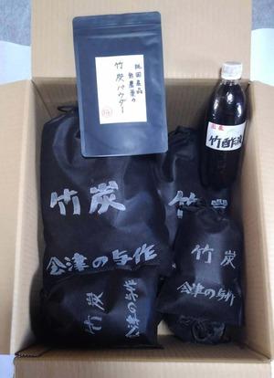 竹炭&竹酢液&パウダーセット(送料込)