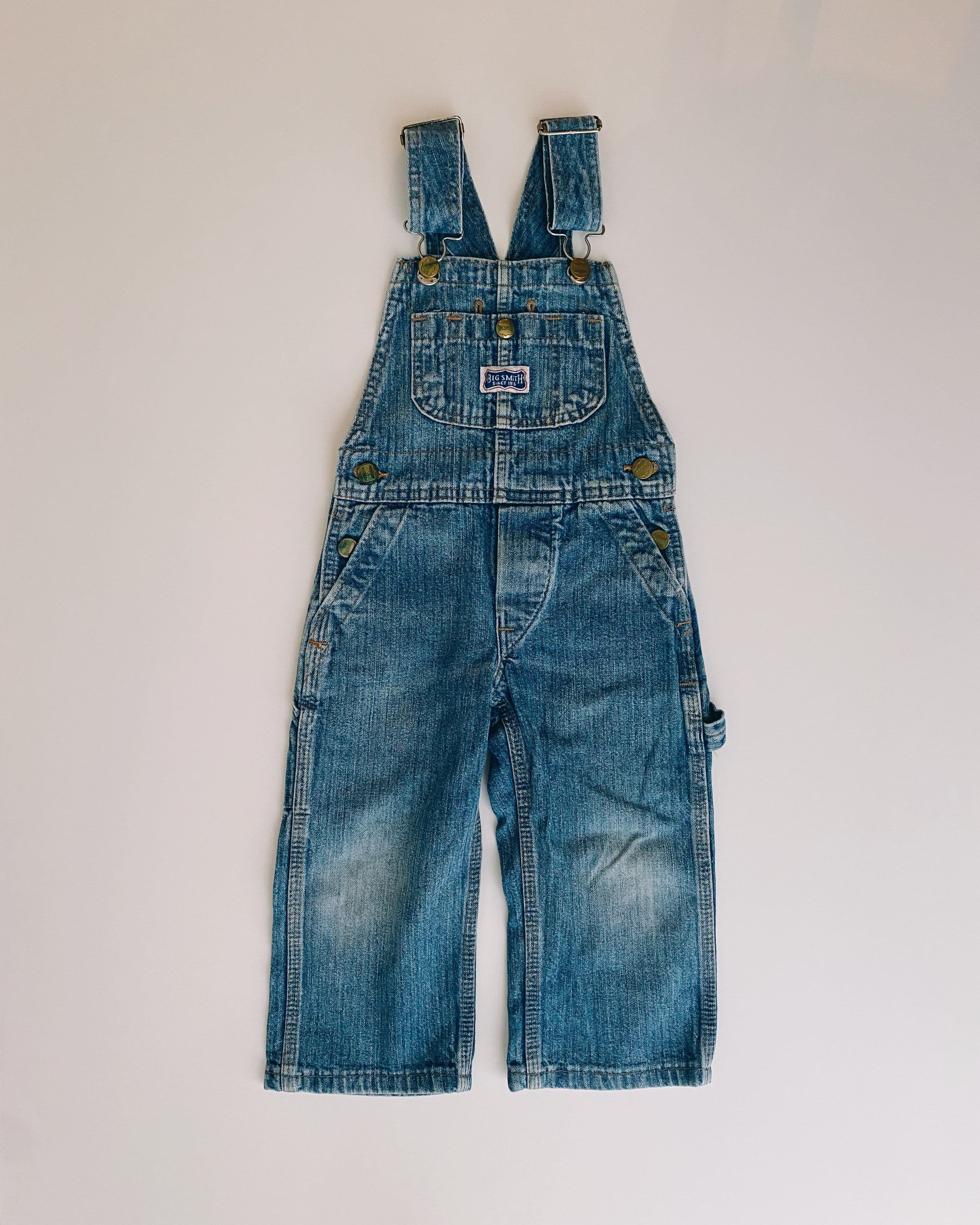 (KD177)100cm BIG SMITH denim overall made in USA