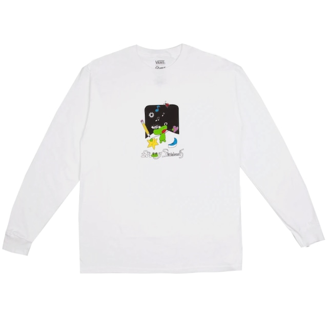 VANS × FROG SKATEBOARDS L/S TEE WHITE
