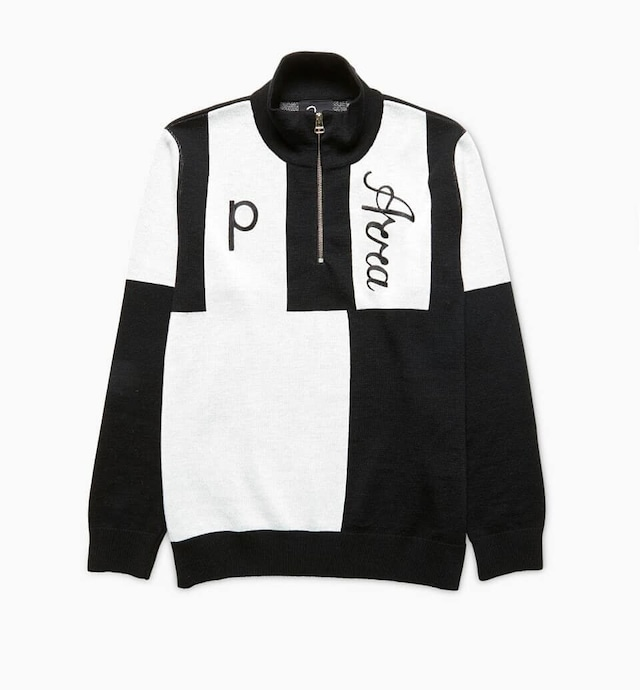 BY PARRA QUARTER ZIP KNITTED PULLOVER