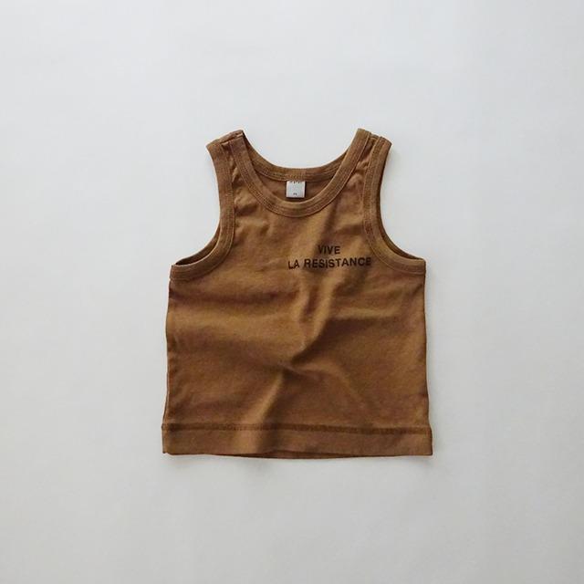 アースカラー タンクトップ [brown]