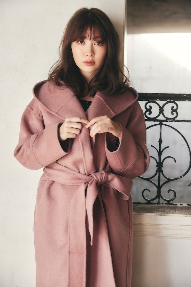 Wool-Blend Doubleface Belted Coat