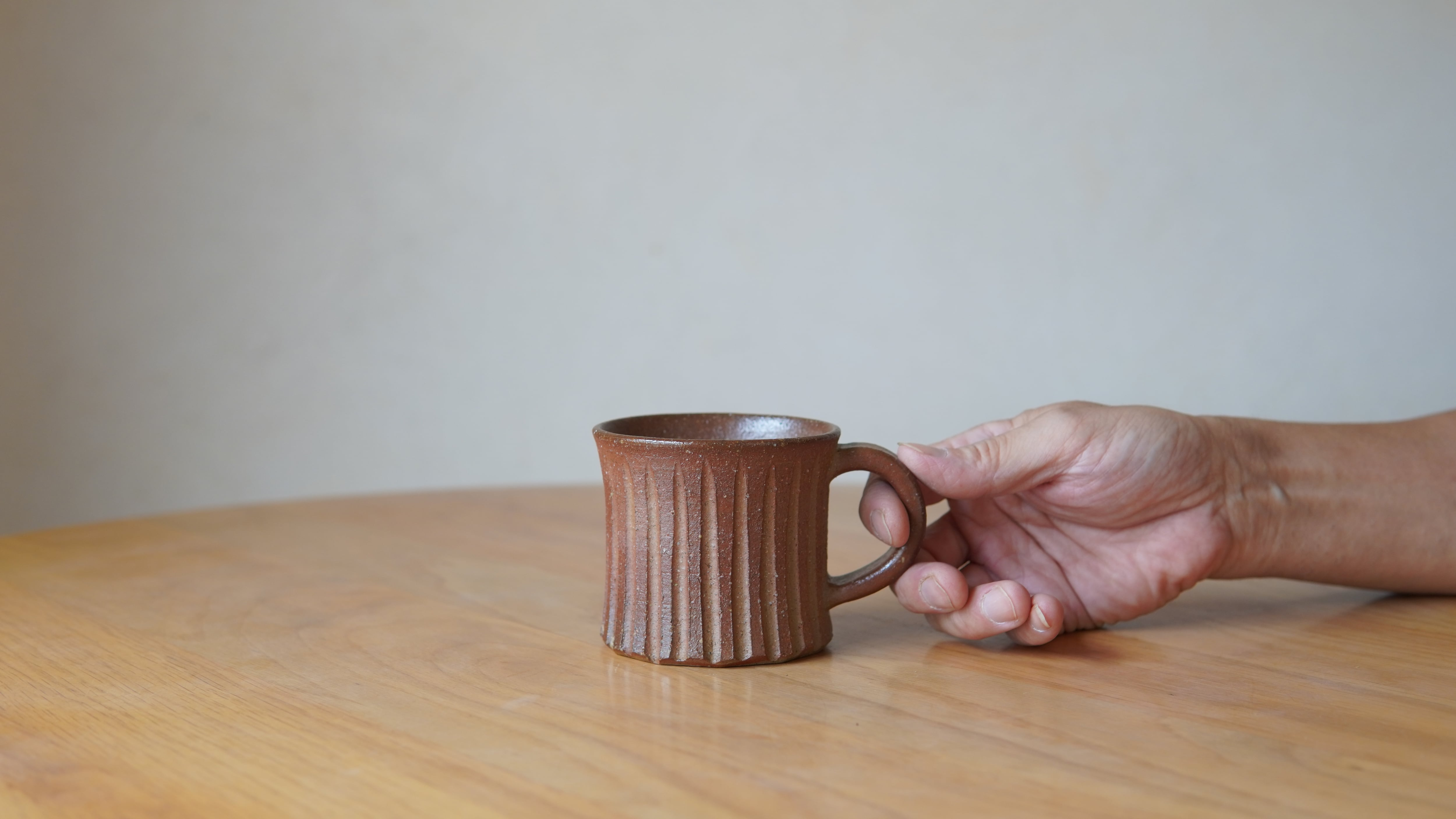 天野智也「備前カヌレマグカップ」(wa-34)