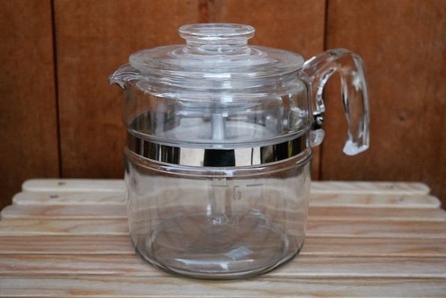 USED 60s PYREX Glass Coffee Percolator -6cup G0734