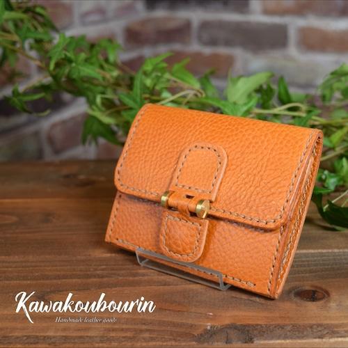 【受注制作】ミニ財布 コインスペースが、がばぁーっとなるギャルソンタイプ (KA080b2)