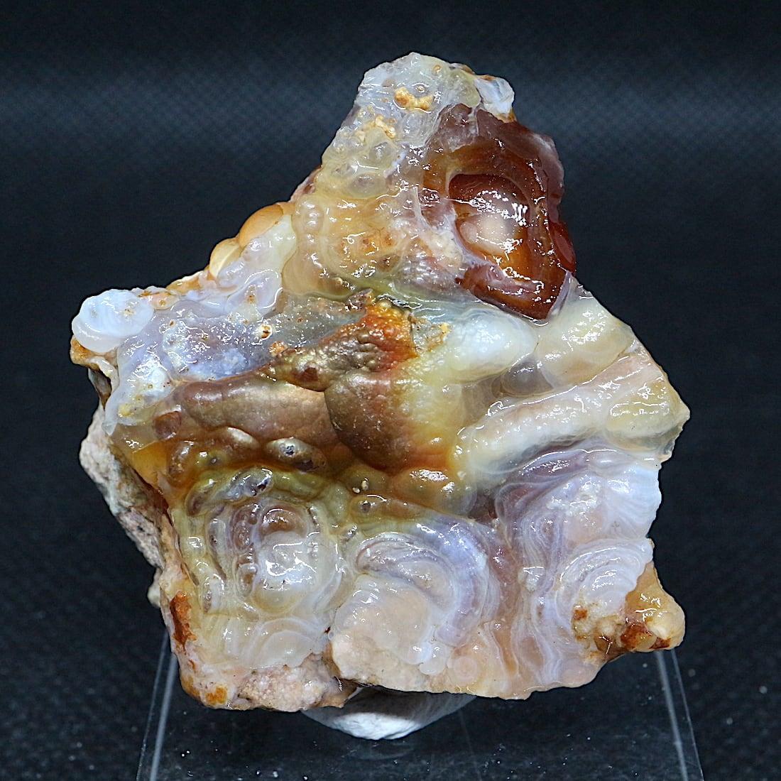 アリゾナ州産 ファイヤー アゲート カルセドニー 40,8g FA041 鉱物 原石 天然石 パワーストーン