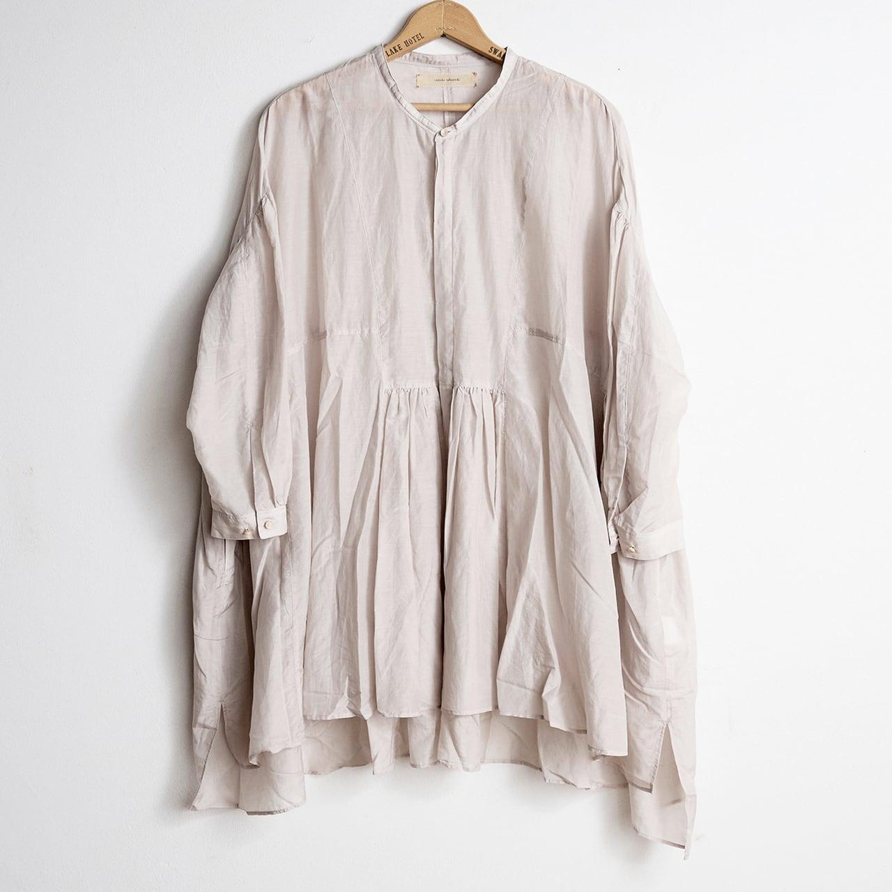 suzuki takayuki スズキタカユキ broad blouse ice grey