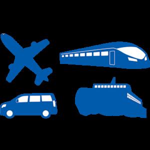 交通機関シルエット