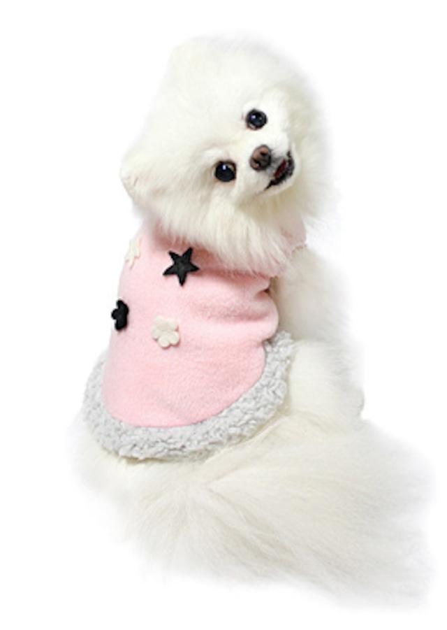 【即納】犬の生活  フリースベスト ピンク 15AW