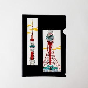山口晃 A4クリアファイル 東京タワー
