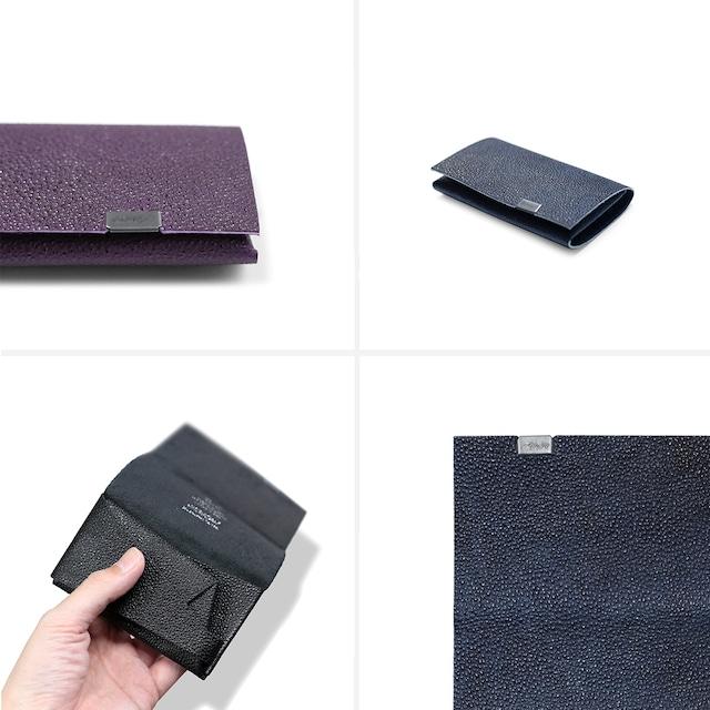 姫路黒桟革 コインケース  黒、杜若、藍染