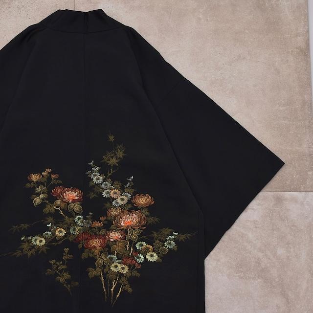 """Japan Vintage  HAORI jacket """"和モダン"""" 黒羽織"""