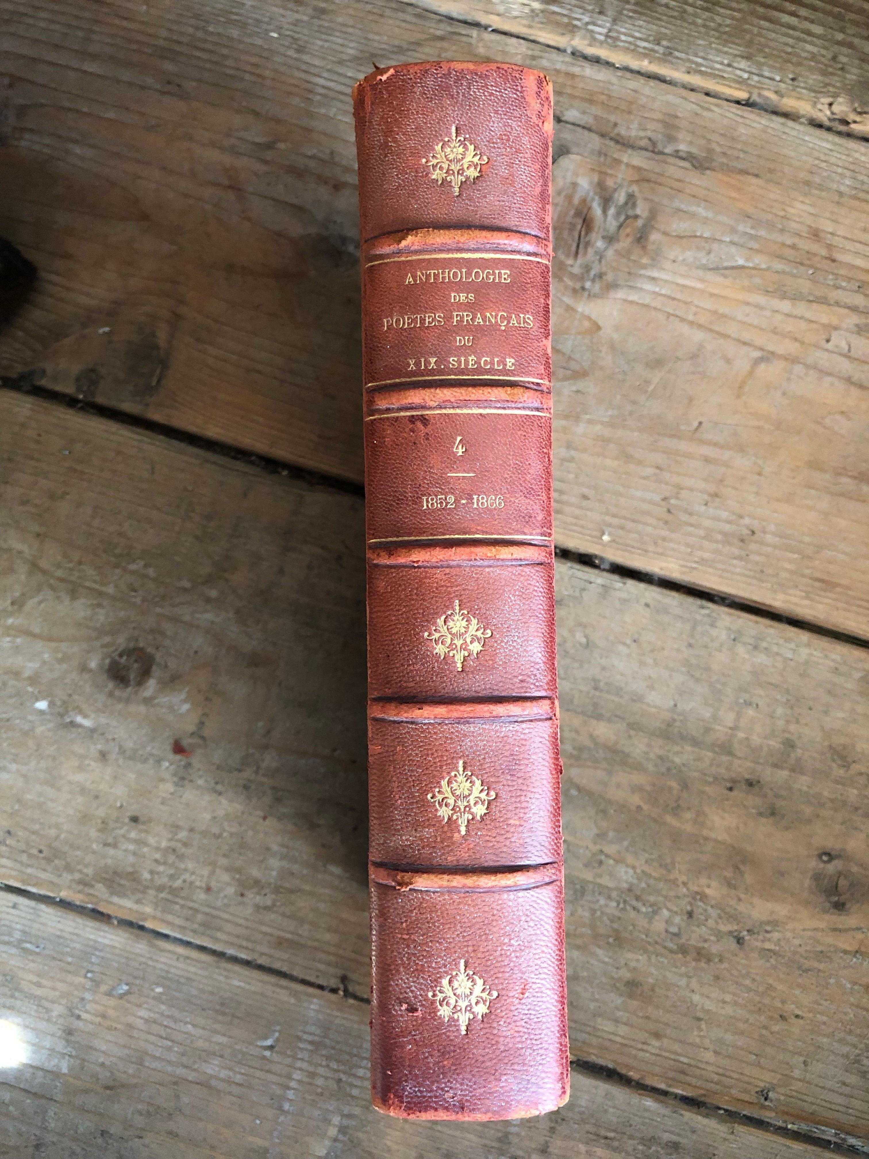 フランスアンティーク古書 古本 19世紀 詩集 no.4