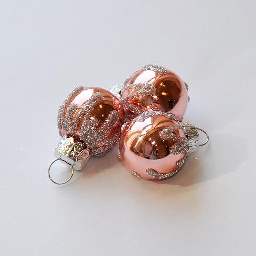 クリスマスオーナメントボール3個セット(ピンク)