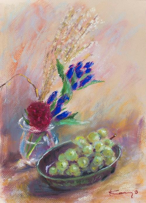 NO.146「葡萄とりんどう」