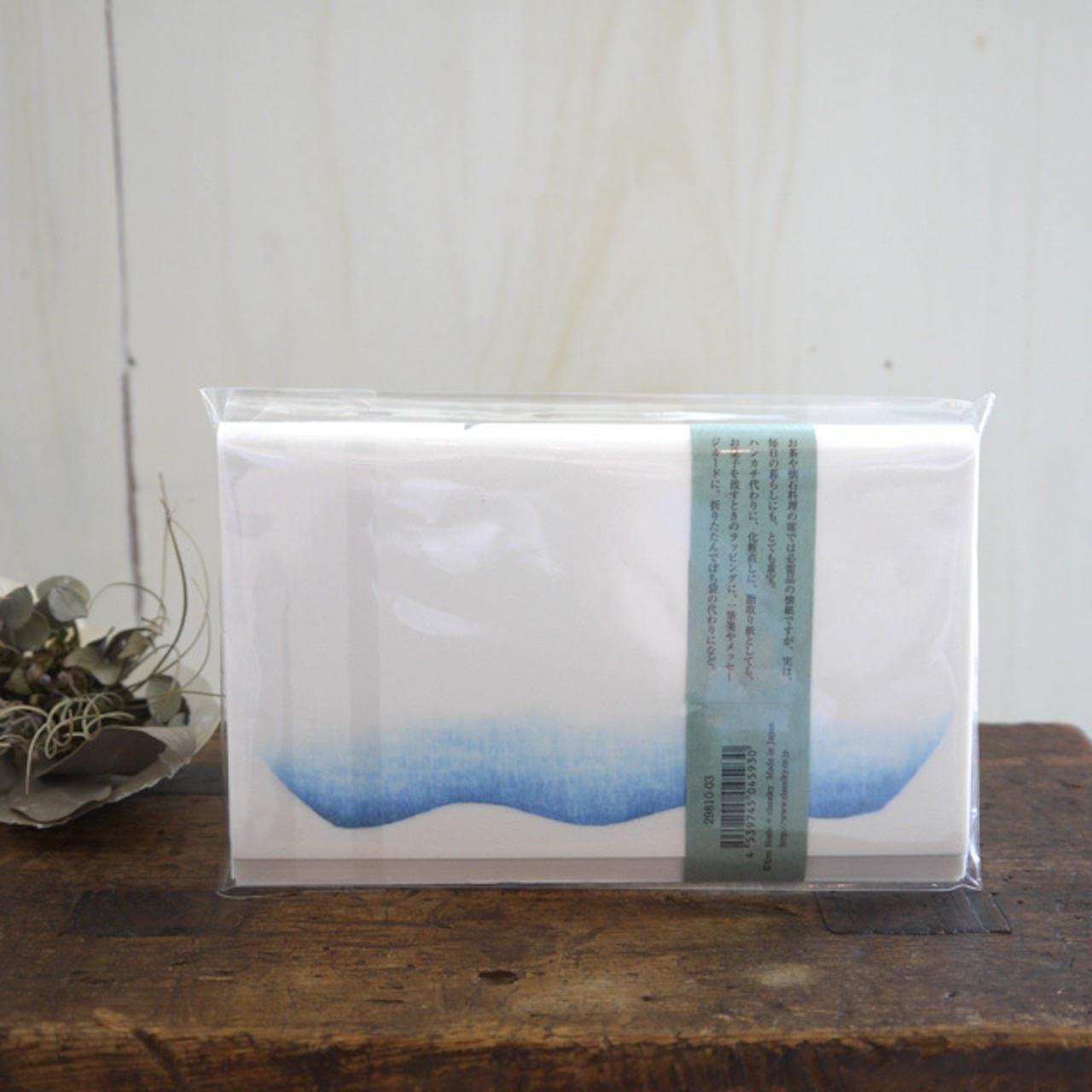 <倉敷意匠>雨玉舎 懐紙 24枚入(金魚鉢)