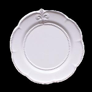 Damask logo round dish / ダマスクロゴ ラウンドディッシュ