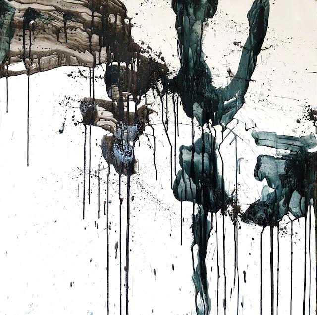 絵画 絵 ピクチャー 縁起画 モダン シェアハウス アートパネル アート art 14cm×14cm 一人暮らし 送料無料 インテリア 雑貨 壁掛け 置物 おしゃれ 抽象画 現代アート ロココロ 画家 : tamajapan 作品 : t-39