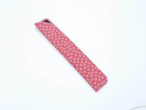 婦人用扇子入れ(扇子入れ小)ピンク/白 小桜柄