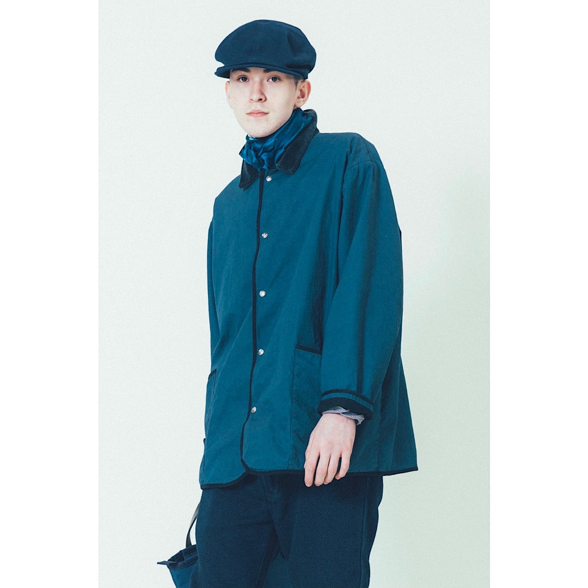 PARAFFIN CORDUROY JACKET W/SILVER BUTTONS