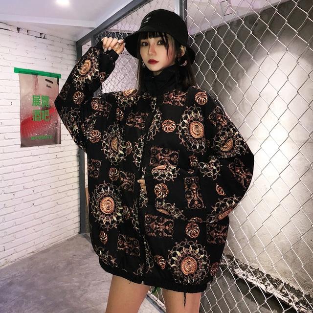 【アウター】小花柄ストリート系コーデ易いジャケット42907996