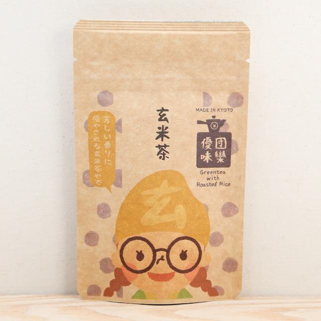 玄米良子|ごえんちゃーずパック|抹茶入煎茶玄米茶ティーバッグ4包入
