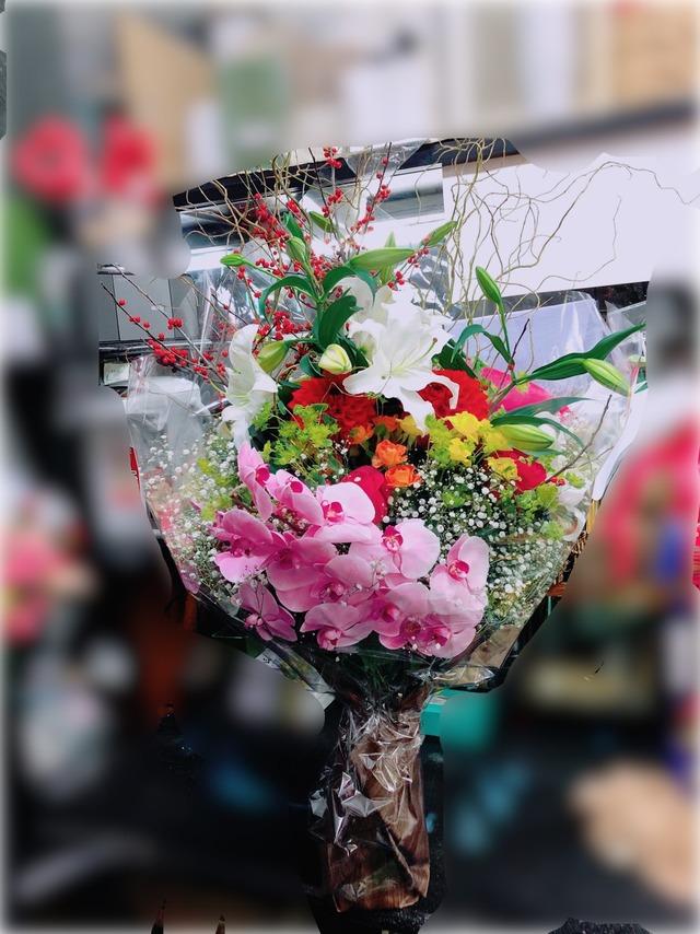 【花束】 ~開店、移転、周年などお祝いごとに~ 送料無料※配送エリア限定品