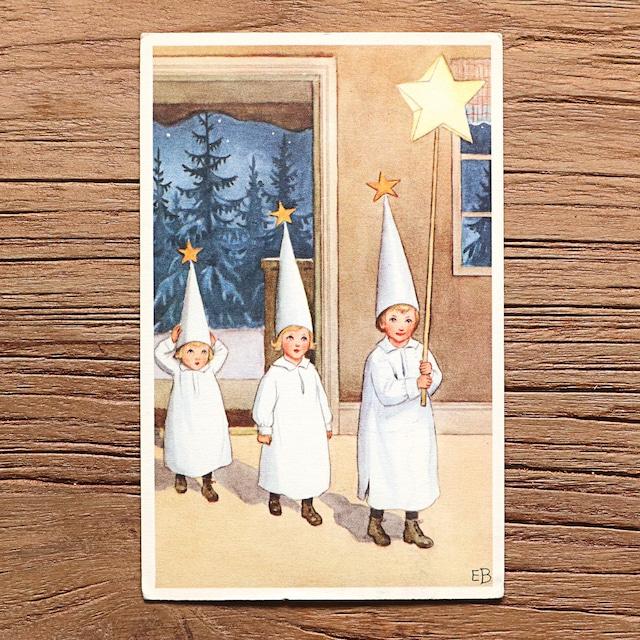 クリスマスカード「Elsa Beskow(エルサ・ベスコフ)」《211007-03》