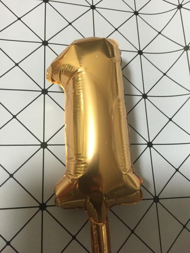 数字バルーン小(約15cm)