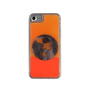 ARTiFY iPhone SE(第2世代)/6/6s/7/8 ネオンサンドケース クリムト キス 円形 オレンジ/オレンジ AJ00402