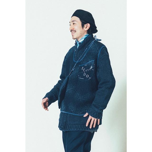 PC SASHIKO ORIGINAL  2-WAY PULLOVER VEST WATCH CHAIN ITEM