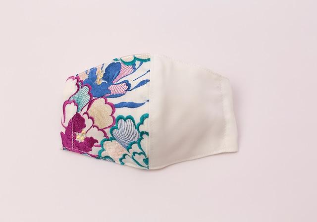 【着物マスク】チャーム付き・刺繍マスク- KOTOHOGI(m03505)