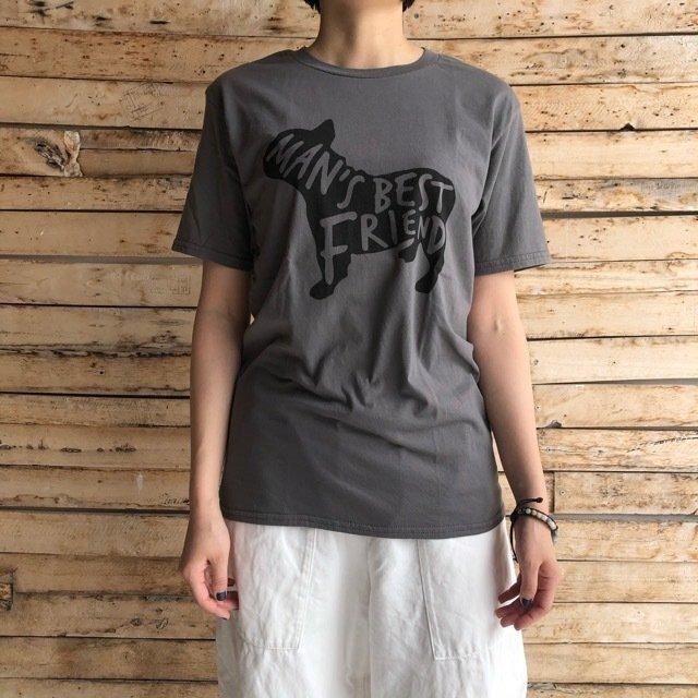 TOPANGA Lady's Best Friend Tシャツ チャコールグレー