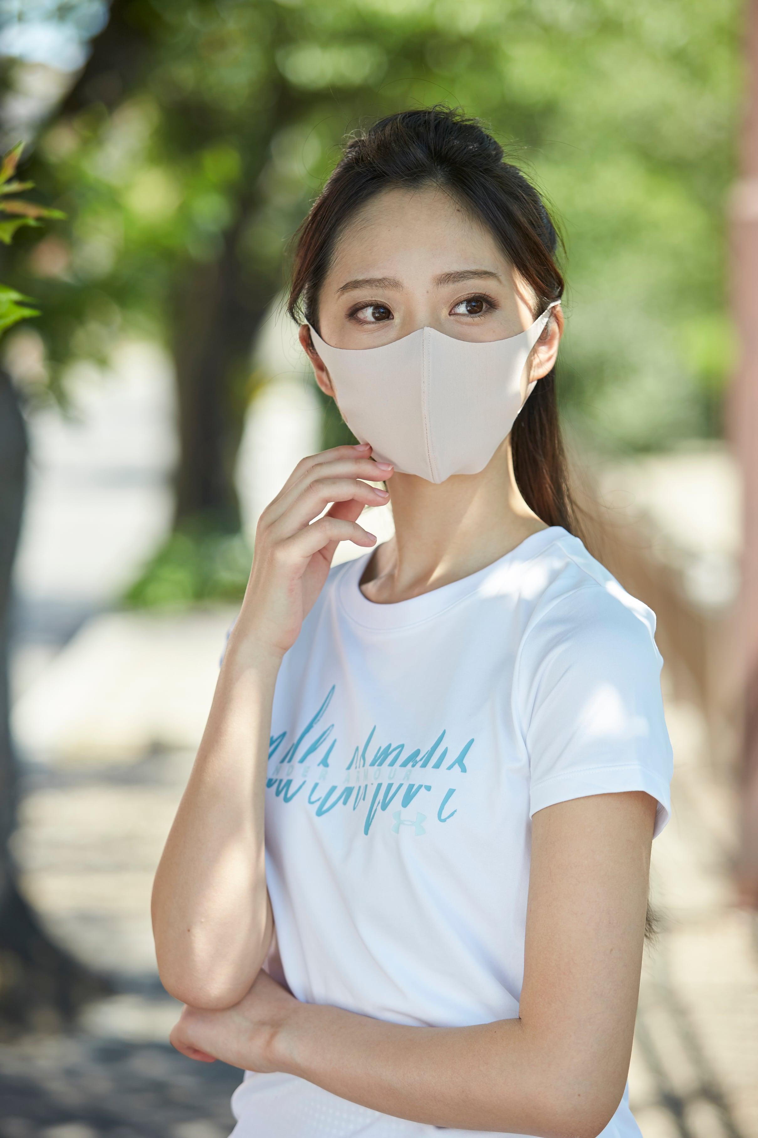 「さらピッタ」® Sサイズマスク  無地2枚セット 接触冷感・UVカット・吸汗速乾 #106
