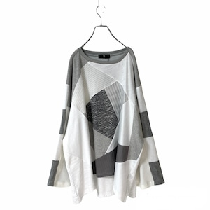 Wide-T-shirts1.1 (white/grey)
