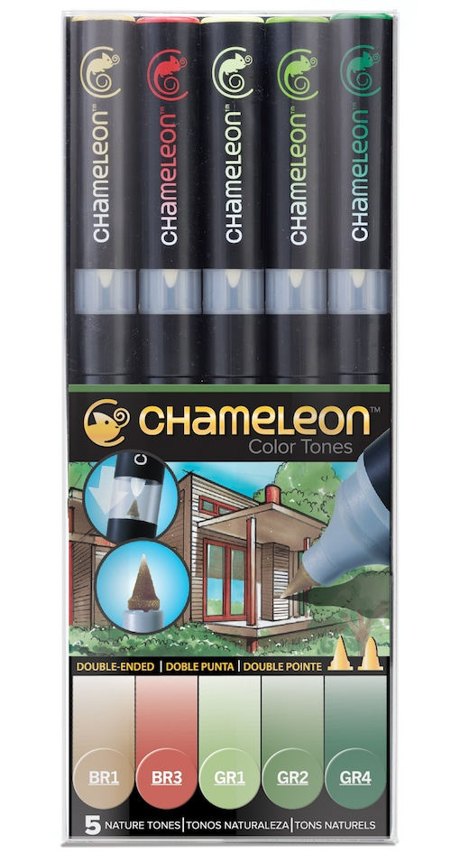 Chameleon Pen 5 Pen Nature Set (カメレオンペン 5本入りネイチャーセット)