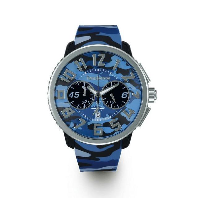 【Tendence テンデンス】TY046023 GULLIVER Round CAMO ガリバーラウンドカモ(ブルー)/国内正規品 腕時計
