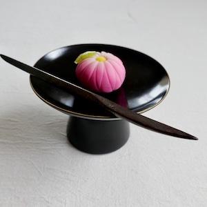 〈再々入荷〉最終入荷【30981】輪島塗 高付 黒 金縁 明治 / Wajima Nuri Wooden Footed Plate  / Meiji Era