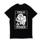 VIOLA&ROSES CLASSICモノクロTEE NO.2 BK