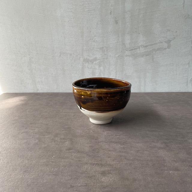 清水善行   飴釉  茶碗