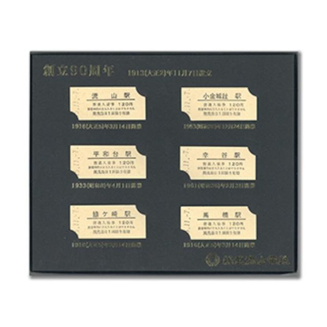【完売御礼】[流鉄]創立90周年 記念入場券(平成15年発売)