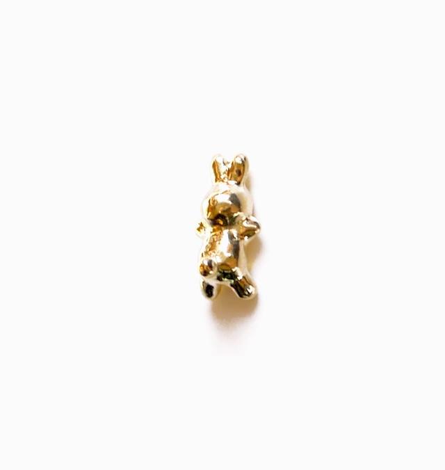 RABBIT CHARMのsnap RING body jewelry ® K18YG #0007 うさぎボディピアス・チャーム単体/18金イエローゴールド