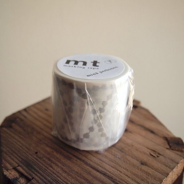 【mina perhonen】マスキングテープ「tambourine grande・silver」